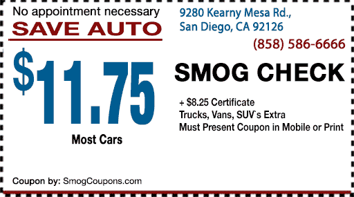 Information regarding Smog Coupon San Diego:
